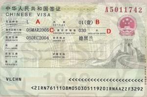 Туристическая виза в Китай (Виза L)